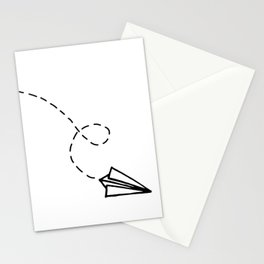 Send It // Simple Paper Airplane Drawing Stationery Cards