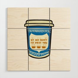 NYC Coffee Cup Wood Wall Art