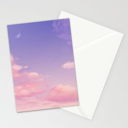 Sky Purple Aesthetic Lofi Stationery Cards