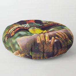 Papua New Guinea Chief Floor Pillow