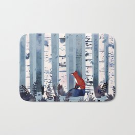 The Birches (in Blue) Bath Mat