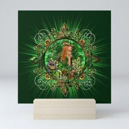 Green Bright Light Mini Art Print