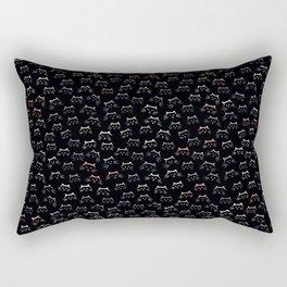 Cat - mouflage on Black Rectangular Pillow