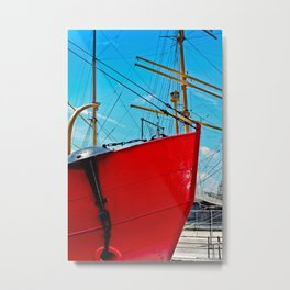 The Red Bow Metal Print