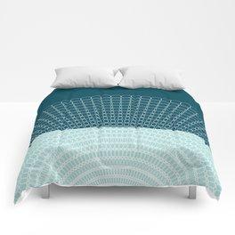 Geometric Blue Skys Comforters