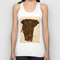 indonesia Tank Tops featuring Aztec Elephant with floral Pattern iPhone 4 4s 5 5c 6, pillow case, mugs and tshirt by Three Second