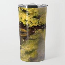 River Impressionism Landscape Painting Travel Mug