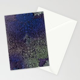 lace weave in deep blues Stationery Cards