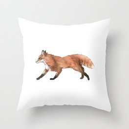 Unique Illustration Of A Fox For Animal Lovers And Owners T-shirt Design Animals Lobo Hyena Sit Throw Pillow