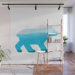 Blue Bear - Wildlife Series Wall Mural