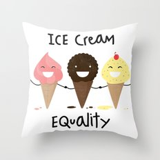 Ice cream Equality (reloaded) Throw Pillow