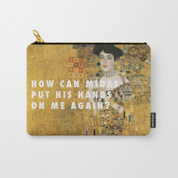 Gustav Klimt, ABB (1907) / Halsey, 100 Letters (2017) Carry-All Pouch