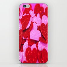 Red & Pink Hearts iPhone & iPod Skin