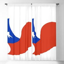 Flag of Chile 3 -Spanish,Chile,chilean,chileno,chilena,Santiago,Valparaiso,Andes,Neruda. Blackout Curtain