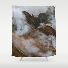 Kerlingjarfjöll smoky Mountains in Iceland - Landscape Photography Shower Curtain