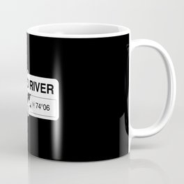 Forked River New Jersey Map GPS Coordinates Artwork Coffee Mug