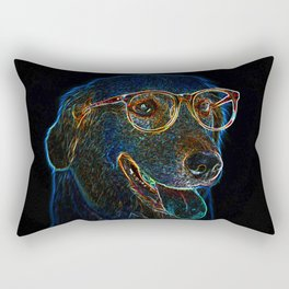 Geek Dog Rectangular Pillow