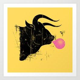 The Bull & The Bee Art Print