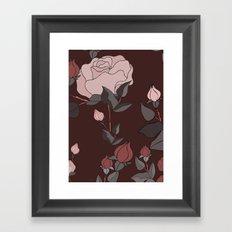 Big Rose Pattern  Framed Art Print