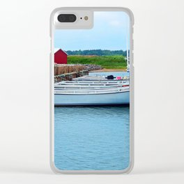 Lobster Boats and Traps Clear iPhone Case