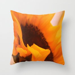 SunflowerPower ~ retro sunny orange flower Throw Pillow