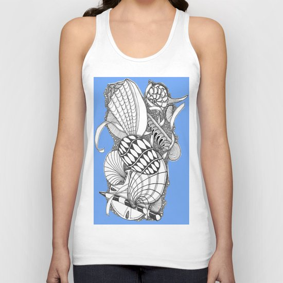 Gifts from the Sea Zentangle Style Unisex Tank Top