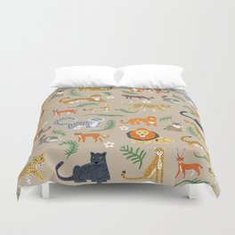 Exotic Cats Duvet Cover