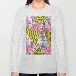 Abstract shapes yellow-pink-black Long Sleeve T-shirt
