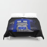 bad wolf Duvet Covers featuring Bad Wolf by Perdita