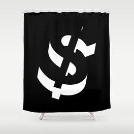 Dollar Sign Shower Curtain