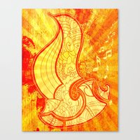 saxophone Canvas Prints featuring Saxophone by Inailau Hut