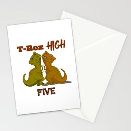 T-Rex High Five Stationery Cards