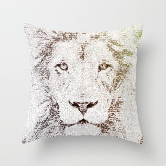 The Intellectual Lion Throw Pillow