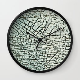 Abstract pattern light green Wall Clock