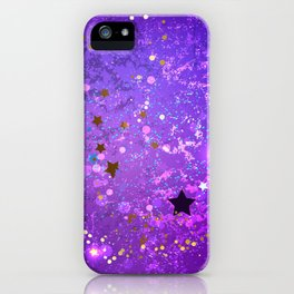 Purple Background with Stars iPhone Case