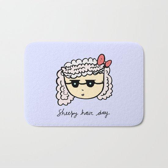 Sheepy hair day Bath Mat