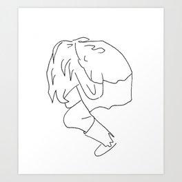 Head in Hands Art Print