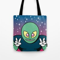 invader zim Tote Bags featuring Invader by Eliseo Diaz