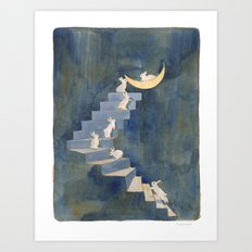 Stairway to the moon Art Print