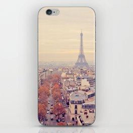 autumn in paris iPhone Skin