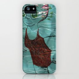 Blue Swimmer no. 4 iPhone Case