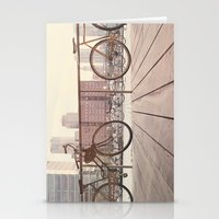 bicycles Stationery Cards featuring Bicycles by Krista Mary