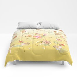 tea rose buds Comforters