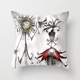 Ghost with the Most Throw Pillow