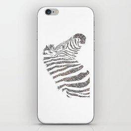 Party Zebra iPhone Skin