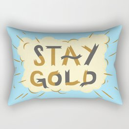 Stay Gold Print Rectangular Pillow