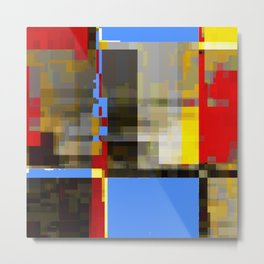 an alteration of mondrian. 1 Metal Print