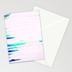 Colorful Seaside Stripes Stationery Cards
