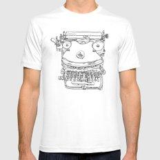Typewriter Face Mens Fitted Tee White MEDIUM