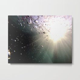 Sun in the pool with bubbles Metal Print